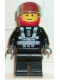 Minifig No: bk001  Name: Blacktron Racer