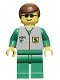 Minifig No: bnk001  Name: Bank - Green Legs, Brown Male Hair