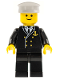 Minifig No: boat001  Name: Boat Admiral with Gold Anchor Pattern
