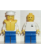 Minifig No: boat007  Name: Boat Worker - Torso with Anchor, Blue Legs, White Hat, Life Jacket