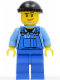 Minifig No: boat011  Name: Overalls with Tools in Pocket Blue, Black Knit Cap, Smirk and Stubble Beard
