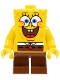Minifig No: bob028  Name: SpongeBob - Large Grin and Black Eyebrows