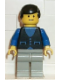 Minifig No: but003  Name: Shirt with 3 Buttons - Blue, Light Gray Legs, Black Male Hair