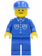 Minifig No: but007  Name: Shirt with 6 Buttons - Blue, Blue Legs, Blue Cap
