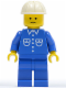 Minifig No: but008  Name: Shirt with 6 Buttons - Blue, Blue Legs, White Construction Helmet
