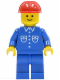 Minifig No: but011  Name: Shirt with 6 Buttons - Blue, Blue Legs, Red Construction Helmet