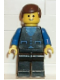 Minifig No: but013  Name: Shirt with 3 Buttons - Blue, Black Legs, Brown Male Hair