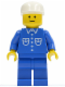 Minifig No: but016  Name: Shirt with 6 Buttons - Blue, Blue Legs, White Cap