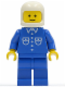 Minifig No: but017  Name: Shirt with 6 Buttons - Blue, Blue Legs, White Classic Helmet