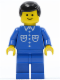Minifig No: but019  Name: Shirt with 6 Buttons - Blue, Blue Legs, Black Male Hair
