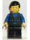 Minifig No: but025  Name: Shirt with 3 Buttons - Blue, Black Legs, Black Male Hair