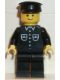 Minifig No: but029  Name: Shirt with 6 Buttons - Black, Black Legs, Black Hat