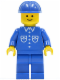 Minifig No: but031  Name: Shirt with 6 Buttons - Blue, Blue Legs, Blue Construction Helmet