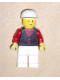Minifig No: but036  Name: Shirt with 3 Buttons - Red, Red Arms, White Legs, White Cap