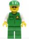 Minifig No: car003  Name: Cargo - Green Shirt, Green Legs, Green Cap