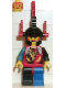 Minifig No: cas011  Name: Dragon Knights - Dragon Master, Red Plumes