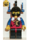 Minifig No: cas015  Name: Dragon Knights - Knight 2, Black Legs with Red Hips, Black Dragon Helmet, Blue Plumes