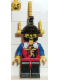 Minifig No: cas018  Name: Dragon Knights - Knight 2, Black Legs with Red Hips, Black Dragon Helmet, Yellow Plumes