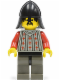 Minifig No: cas026  Name: Fright Knights - Knight 2, Black Neck-Protector