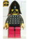Minifig No: cas029  Name: Fright Knights - Knight 3, Red Legs with Black Hips, Black Neck-Protector