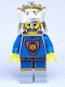 Minifig No: cas035  Name: Knights' Kingdom I - King Leo