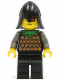 Minifig No: cas042  Name: Knights' Kingdom I - Robber 1, Black Neck-Protector