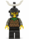Minifig No: cas043  Name: Knights' Kingdom I - Gilbert the Bad, Black Dragon Helmet, Horn, no Quiver