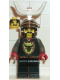 Minifig No: cas046cm  Name: Knights' Kingdom I - Cedric the Bull (Robber Chief) with Chrome Dragon Helmet