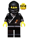 Minifig No: cas048  Name: Ninja - Black