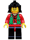 Minifig No: cas053  Name: Ninja - Robber, Green
