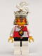 Minifig No: cas059  Name: Royal Knights - King, with black/white legs
