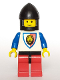 Minifig No: cas061  Name: Royal Knights - Knight 1, Black Chin-Guard, no Quiver