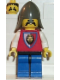 Minifig No: cas065  Name: Royal Knights - Knight 3, Dark Gray Neck-Protector