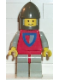 Minifig No: cas075  Name: Classic - Knight, Shield Red/Gray, Light Gray Legs with Red Hips, Dark Gray Chin-Guard
