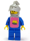 Minifig No: cas081s  Name: Classic - Yellow Castle Knight Blue Cavalry - with Vest Stickers