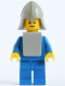 Minifig No: cas082a  Name: Classic - Yellow Castle Knight Blue