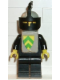 Minifig No: cas085s  Name: Classic - Yellow Castle Knight Black Cavalry - with Vest Stickers