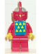 Minifig No: cas087s  Name: Classic - Yellow Castle Knight Red Cavalry - with Vest Stickers