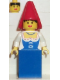 Minifig No: cas097  Name: Maiden, Red Cone Hat