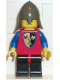 Minifig No: cas105  Name: Crusader Axe - Black Legs with Red Hips, Dark Gray Neck-Protector