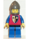 Minifig No: cas107  Name: Crusader Axe - Blue Legs with Black Hips, Dark Gray Chin-Guard