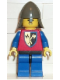 Minifig No: cas108  Name: Crusader Axe - Blue Legs with Black Hips, Dark Gray Neck-Protector