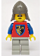 Minifig No: cas109  Name: Crusader Axe - Light Gray Legs, Dark Gray Neck-Protector
