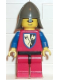 Minifig No: cas111  Name: Crusader Axe - Red Legs with Black Hips, Dark Gray Neck-Protector