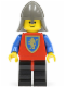 Minifig No: cas112  Name: Crusader Lion - Black Legs with Red Hips, Dark Gray Neck-Protector