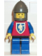 Minifig No: cas113  Name: Crusader Lion - Blue Legs with Black Hips, Dark Gray Chin-Guard