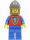 Minifig No: cas114  Name: Crusader Lion - Blue Legs, Dark Gray Chin-Guard
