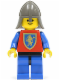 Minifig No: cas115  Name: Crusader Lion - Blue Legs with Black Hips, Dark Gray Neck-Protector