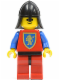 Minifig No: cas120  Name: Crusader Lion - Red Legs with Black Hips, Black Neck-Protector