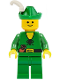 Minifig No: cas124  Name: Forestman - Pouch, Green Hat, White Feather